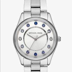 Michael Kors Collete Silver Tone Watch